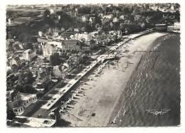 Saint-Cast-le-Guildo (22):  Vue Aérienne Génrale Au Niveau  De La Plage En 1950 (animé). - Saint-Cast-le-Guildo