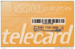 Paraguay, 25.000 Guaranies, 2 Scans.