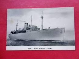 > Transport > Ships > Warships -- U.S.N.S. Henry Gibbins 1953 Cancel-  -ref  779 - Guerra