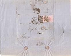 Pli Postal Cacheté/Angleterre France/2 Timbres Victoria 2 1/2 D/1877                TIMB50 - 1840-1901 (Regina Victoria)