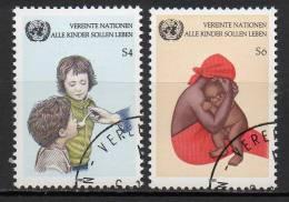 Nations Unies (Vienne) - 1985 - Yvert N° 53 & 54 - Centre International De Vienne