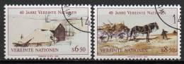 Nations Unies (Vienne) - 1985 - Yvert N° 51 & 52 - Centre International De Vienne