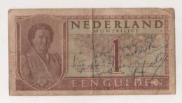 BILLET PAYS-BAS - P.72 - 1 GULDEN - 08/08/1949 - REINE JULIANA - [2] 1815-… : Koninkrijk Der Verenigde Nederlanden