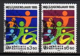 Nations Unies (Vienne) - 1984 - Yvert N° 45 & 46 - Centre International De Vienne
