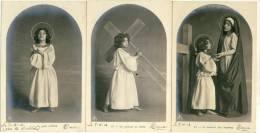 Jeune Garçon Vivant La Passion Du Christ - Série De 6 Cartes -1902 ( Voir Verso ) - Cartes Humoristiques