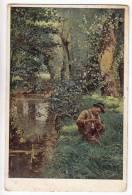 "SPORTS FISHING V. TRSEK ""LITTLE FISHERMAN"" OLD POSTCARD 1916. - Fishing"