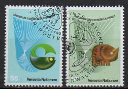 Nations Unies (Vienne) - 1982 - Yvert N° 27 & 28 - Centre International De Vienne