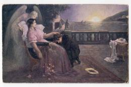 "ANGELS M. MARTINKOVA ""TWO DOWNFALL""  Nr. 253 OLD POSTCARD - Angels"