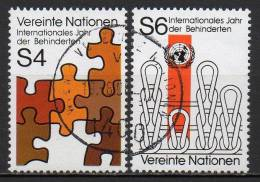 Nations Unies (Vienne) - 1981 - Yvert N° 17 & 18 - Centre International De Vienne