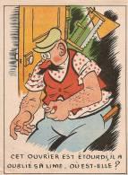 """Image Ludique/ """"Cherchez L'Objet"""" / Laboratoires De L'Urodonal/ Chatelain/ Ouvrier étourdi/Paris/ Vers 1930    JE50 - Autres"""