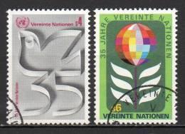 Nations Unies (Vienne) - 1980 - Yvert N° 12 & 13 - Centre International De Vienne