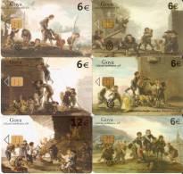 SERIE DE 6 TARJETAS DE PINTURA DE FRANCISCO DE GOYA (PAINTING) - Pintura