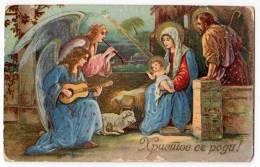 CHRISTMAS BABY JESUS AND ANGELS Nr. 1258 OLD POSTCARD 1932. - Christmas