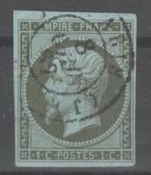 Napoléon III  N° 11 (Variété, Lune Derrière La Tête)  Avec Oblitération Cachet à Date  TTB - 1853-1860 Napoléon III.