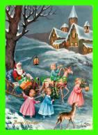 SANTA CLAUS - PÈRE NOEL - BUON NATALE - ILLUSTRATEUR, A. COLLINO - CIRCULÉE EN 1965 - ADRESSÉ À RIMOUSKI - - Santa Claus