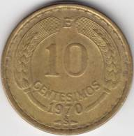 @Y@   Chili 10 Centesimos  1970    (C346) - Chili