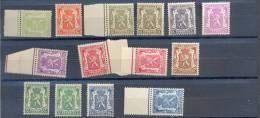 Belgie - Belgique Ocb Nr:   418A - 426 **  MNH + Enkele Quelques  NUANCES !!  ( Zie  Scan) - 1935-1949 Small Seal Of The State