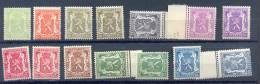 Belgie - Belgique Ocb Nr:   418A - 426 **  MNH + Enkele Quelques  NUANCES !!  ( Zie  Scan) - 1935-1949 Klein Staatswapen