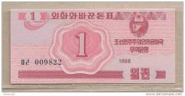 Corea Del Nord - Banconota Non Circolata Da 1 Won - 1988 - Corea Del Nord