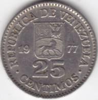 @Y@   Venezuela  25 Centimos  1977    (C352) - Venezuela