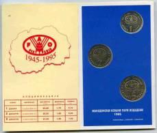 Macédoine Macedonia Coffret Officiel 1995 1 à 5 Dinari FAO BU - Macédoine