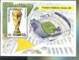 ANTIGUA & BARBUDA  1841 MNH WORLD CUP FOOTBALL - SOCCER 1994  USA ;FOXBORO STADIUM  ( - Unclassified