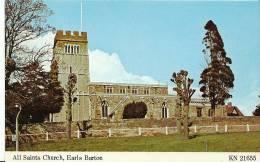 Northamptonshire Postcard - All Saints Church, Earls Barton  BH2162 - Northamptonshire