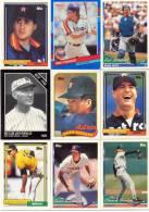 Baseball TOPPS, LEAF, Etc Cards Set (9 Cards) 1989 1990 1991 1992 1994 - Trading Cards
