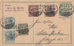 DR GS Zfr. Minr.2x 85II,91II,159,161 Plauen 14.2,22 - Briefe U. Dokumente
