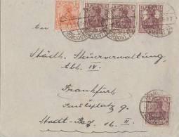 DR Brief Mif Minr.3x 140c, 141,142a Geprüft Frankfurt 7.2.21 - Briefe U. Dokumente