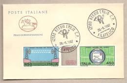 Italia - Busta FDC Con Serie Completa: Lavoro Italiano Nel Mondo - 1982 - 6. 1946-.. Republic