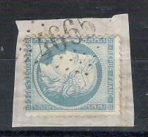 CERES N° 60 , Nuance Bleu Clair,obl GC 4665 ,bureau Supplémentaire De LIT Et MIXE, Landes, Sur Fragment, TB - 1871-1875 Cérès