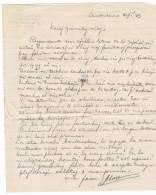 1949 - Lettre En Espéranto - Crayon à Papier - Manuscrits