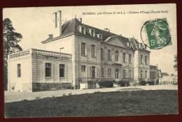 Cpa Du   37  Huismes  Près Chinon   Château D' Usage  Façade  Nord   SAB31 - Chinon