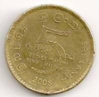 Sri Lanka Five Rupees Coin - Sri Lanka