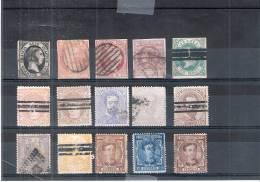 Lot De 15 Classiques D'Espagne Entre Yv.6 Et 166 - Obl/gest/used - Cote:75,90 - (à Voir) - Espagne