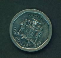 JAMAICA  -  1996  5 Dollars  Circulated As Scan - Jamaica