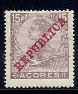 130100318   AZORES C.P.  YVERT  Nº  126  *  MH - Azores