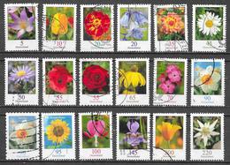 Allemagne Lot 20 - Série Courante Fleurs Oblitérés - Usati