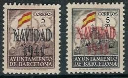 Barcelona 31/32 Sh * Navidad. 1941. Sin Numeración - Barcelona