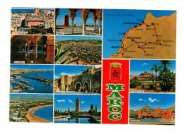 Maroc: Casablanca, Rabat, El Jadida, Fes, Safi, Meknes, Agadir, Marrakech, Ouarzazate, Zagora (13-118) - Non Classificati