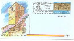España/Spain -Aerograma - Edifil 211 (usado) (Matasellos Primer Día) - Stamped Stationery