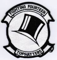 PATCH ECUSSON FIGHTING FOURTEEN TOPHATTERS - Aviazione
