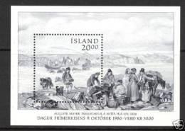 ISLANDE 1986 - Paysage De 1836 - BF Neuf ** (MNH) - Blocs-feuillets