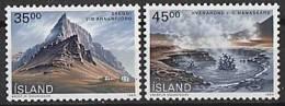 ISLANDE 1989 - Paysages D´Islande - 2v Neuf ** (MNH) - 1944-... Republique