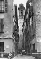 NICE-L'Eglise Du GESU Rue Droite,le Clocher Vu De La Rue De La Croix (rue Rossetti, Auto Voiture Ancienne Old Car Vélo - Monuments, édifices