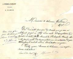 Namur - 1874 - A. Wesmael-Charlier - éditeur - Imprimerie & Papeterie