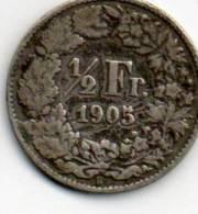 - PIECE DE MONNAIE à Identifier 1/2 Fr 1905 - 930 - Monnaies