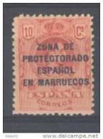 MA60-L3244.Maroc.Marocco .MARRUECOS    ESPAÑOL Alfonso XllI . 1916/0  (Ed 60* )con Fijasellos.MUY BONITO - Marocco Spagnolo