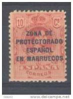 MA60-L3244.Maroc.Marocco .MARRUECOS    ESPAÑOL Alfonso XllI . 1916/0  (Ed 60* )con Fijasellos.MUY BONITO - Marruecos Español